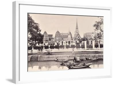 View of a Canal in Bangkok, C.1890-Robert Lenz-Framed Photographic Print