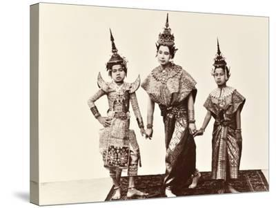 Classical Thai Dancers, C.1900-Robert Lenz-Stretched Canvas Print
