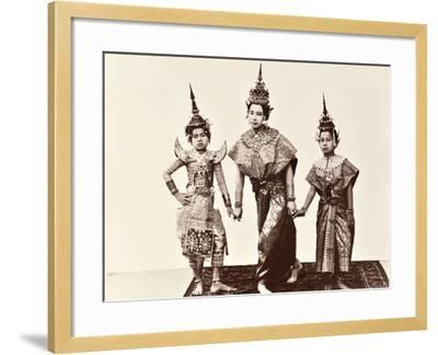 Classical Thai Dancers, C.1900-Robert Lenz-Framed Photographic Print