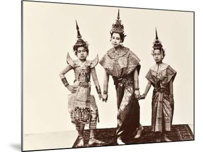 Classical Thai Dancers, C.1900-Robert Lenz-Mounted Photographic Print