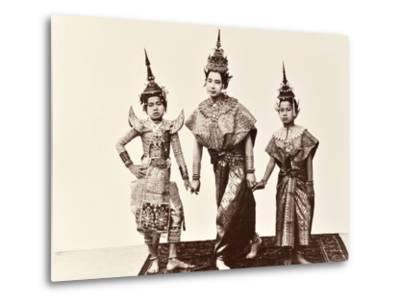 Classical Thai Dancers, C.1900-Robert Lenz-Metal Print