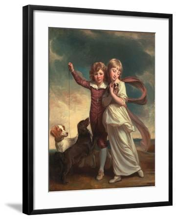 Thomas John Clavering and Catherine Mary Clavering: the Clavering Children, 1777-George Romney-Framed Giclee Print