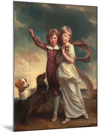 Thomas John Clavering and Catherine Mary Clavering: the Clavering Children, 1777-George Romney-Mounted Giclee Print