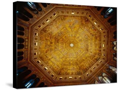 Domed Ceiling of St John's Baptistry, Florence--Stretched Canvas Print