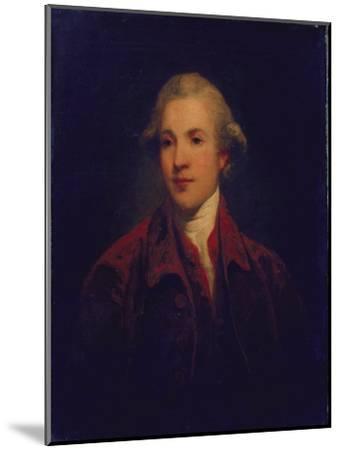 Unknown Man, Called Richard Brinsley Sheridan-Sir Joshua Reynolds-Mounted Giclee Print