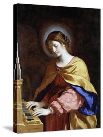 St. Cecilia, C.1649-Guercino (Giovanni Francesco Barbieri)-Stretched Canvas Print