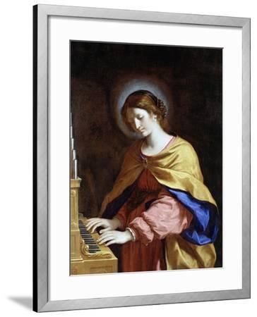 St. Cecilia, C.1649-Guercino (Giovanni Francesco Barbieri)-Framed Giclee Print