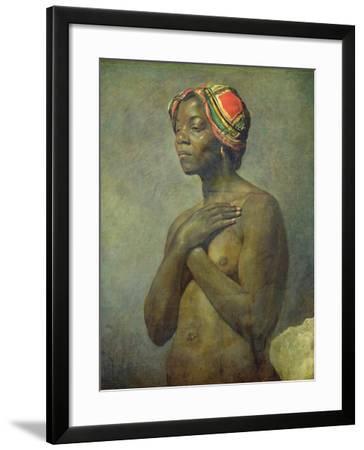 A Black Woman--Framed Giclee Print