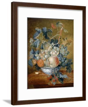 A Delft Bowl with Fruit, C.1730-Michiel van Huysum-Framed Giclee Print