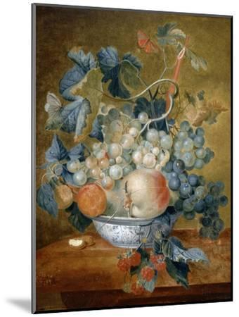 A Delft Bowl with Fruit, C.1730-Michiel van Huysum-Mounted Giclee Print