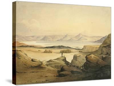 Bahr Assal Salt Lake, C.1841-Rupert Kirk-Stretched Canvas Print