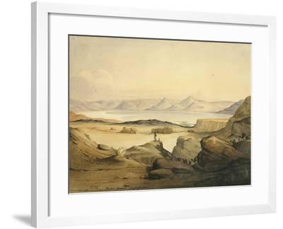 Bahr Assal Salt Lake, C.1841-Rupert Kirk-Framed Giclee Print