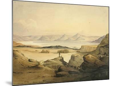 Bahr Assal Salt Lake, C.1841-Rupert Kirk-Mounted Giclee Print