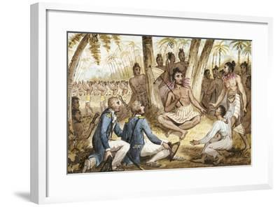 Illustration from 'The Voyages of Captain Cook'-Isaac Robert Cruikshank-Framed Giclee Print