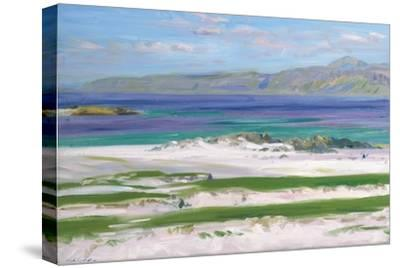 Iona Sound and Ben More-Francis Campbell Boileau Cadell-Stretched Canvas Print