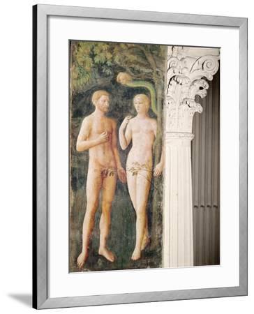 The Temptation of Adam and Eve, C.1423-25-Tommaso Masolino Da Panicale-Framed Giclee Print