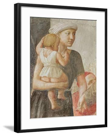 Detail of the Woman and Child, from St. Peter and St. Paul Distributing Alms, C.1427 (Detail)-Tommaso Masaccio-Framed Giclee Print