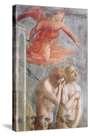 Detail of Adam and Eve Banished from Paradise, C.1427 (Detail)-Tommaso Masaccio-Stretched Canvas Print