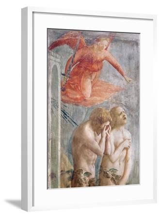 Detail of Adam and Eve Banished from Paradise, C.1427 (Detail)-Tommaso Masaccio-Framed Giclee Print