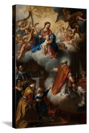 The Vision of St. Philip Neri, 1721-Marco Benefial-Stretched Canvas Print
