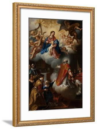 The Vision of St. Philip Neri, 1721-Marco Benefial-Framed Giclee Print
