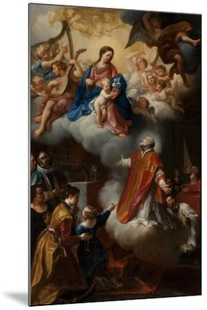 The Vision of St. Philip Neri, 1721-Marco Benefial-Mounted Giclee Print