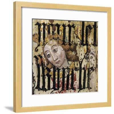 Michael the Archangel, Overprinted with Text from Cranmer's Bible, Detail of the Rood Screen,…--Framed Giclee Print