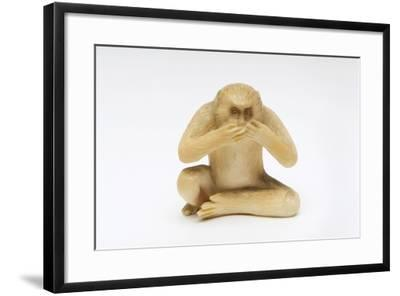 Speak No Evil, One of the Three Wise Monkeys-Japanese School-Framed Giclee Print