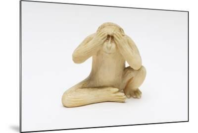 See No Evil, One of the Three Wise Monkeys-Japanese School-Mounted Giclee Print
