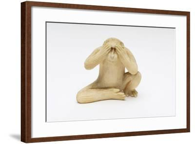 See No Evil, One of the Three Wise Monkeys-Japanese School-Framed Giclee Print