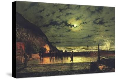 The Harbour Flare, 1879-John Atkinson Grimshaw-Stretched Canvas Print