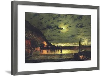 The Harbour Flare, 1879-John Atkinson Grimshaw-Framed Giclee Print