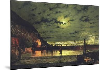 The Harbour Flare, 1879-John Atkinson Grimshaw-Mounted Giclee Print