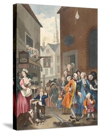 Times of the Day: Noon, Illustration from 'Hogarth Restored: the Whole Works of the Celebrated…-William Hogarth-Stretched Canvas Print