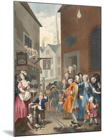Times of the Day: Noon, Illustration from 'Hogarth Restored: the Whole Works of the Celebrated…-William Hogarth-Mounted Giclee Print