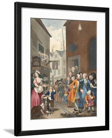 Times of the Day: Noon, Illustration from 'Hogarth Restored: the Whole Works of the Celebrated…-William Hogarth-Framed Giclee Print
