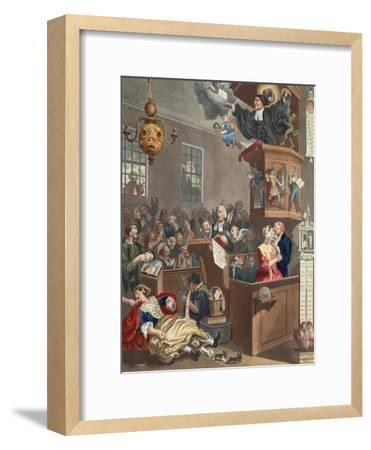 Credulity, Superstition and Fanaticism, Illustration from 'Hogarth Restored: the Whole Works of…-William Hogarth-Framed Giclee Print