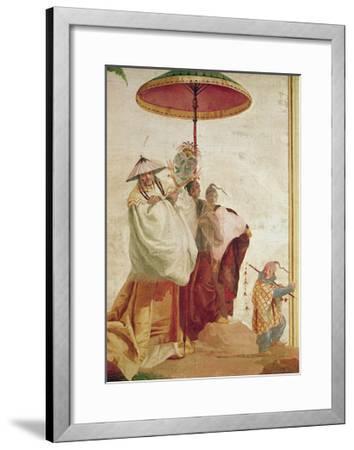 The Walk of the Mandarin-Giandomenico Tiepolo-Framed Giclee Print