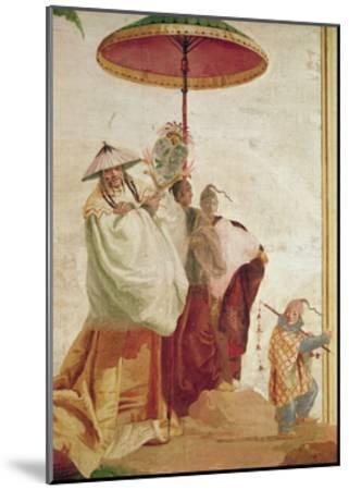 The Walk of the Mandarin-Giandomenico Tiepolo-Mounted Giclee Print