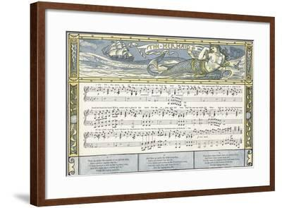The Mermaid', Song Illustration from 'Pan-Pipes', a Book of Old Songs, Newly Arranged and with…-Walter Crane-Framed Giclee Print