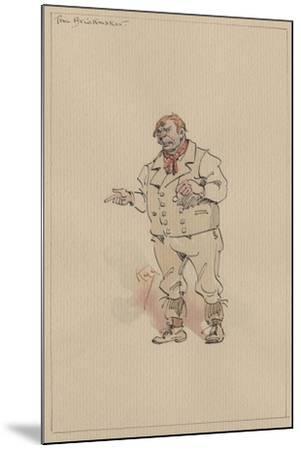 The Brickmaker, C.1920s-Joseph Clayton Clarke-Mounted Giclee Print