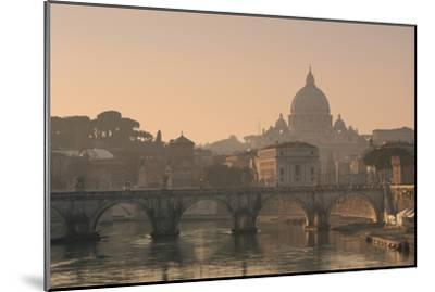 St Peter's Basilica and Ponte Sant Angelo, Rome, Italy--Mounted Photographic Print