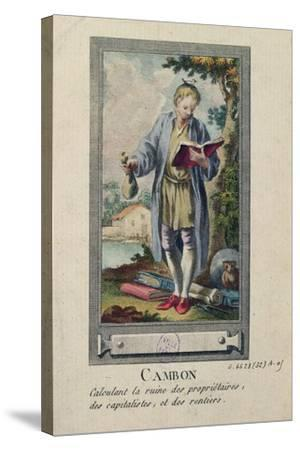 Caricature of Cambon Calculating the Ruin of the Proprietors, the Capitalists and the Rentiers--Stretched Canvas Print