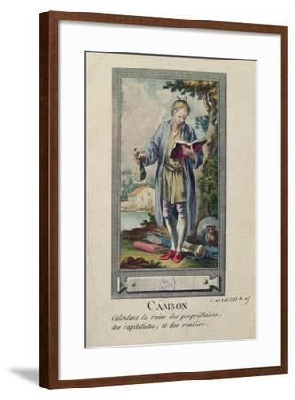 Caricature of Cambon Calculating the Ruin of the Proprietors, the Capitalists and the Rentiers--Framed Giclee Print