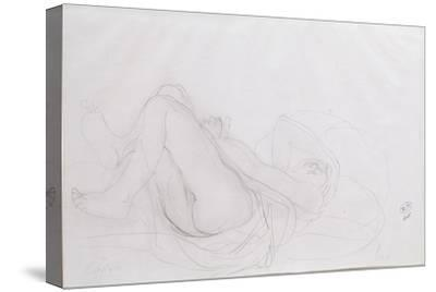 Nude-Auguste Rodin-Stretched Canvas Print