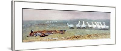 A Game of Fox and Geese, 1868-Briton Rivi?re-Framed Giclee Print