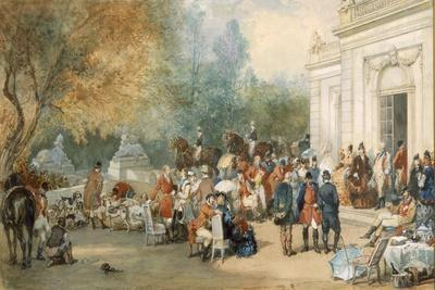 A Hunting Breakfast in England, 1870-Eugene-Louis Lami-Framed Giclee Print
