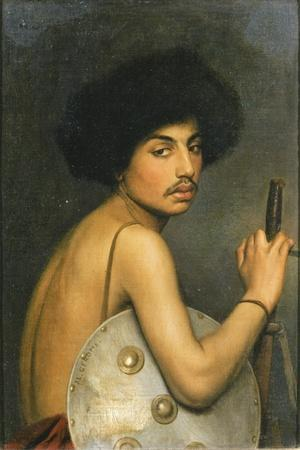 Bisharin Warrior, 1872-Jean Leon Gerome-Stretched Canvas Print