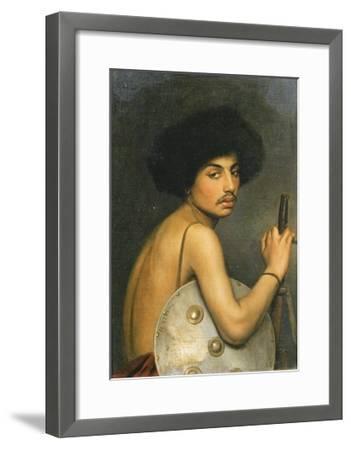 Bisharin Warrior, 1872-Jean Leon Gerome-Framed Giclee Print