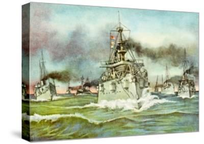 Flying Squadron of the United States Navy During the Spanish-American War, 1898--Stretched Canvas Print
